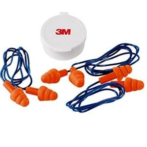 3M Safety Corded Reusable Earplugs,with Case
